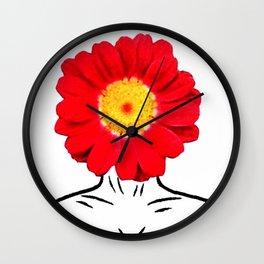 Face Flower Wall Clock