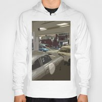 porsche Hoodies featuring Porsche Garage by Premium