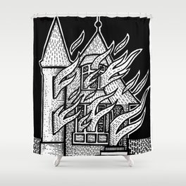 Burn Mother F##ker, Burn Shower Curtain