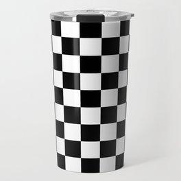 CHECKER PRINT Travel Mug
