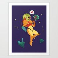 Video game girl 05 Art Print