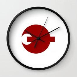 nara region flag japan prefecture Wall Clock