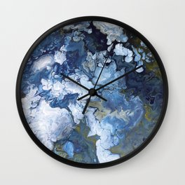Abstract Nature Acrylic Pour Wall Clock