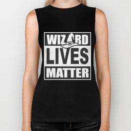 Wizard Lives Matter Retro Halloween Sorcerer Dark Biker Tank