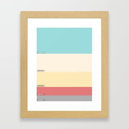 Palette color Cotton candy Framed Art Print