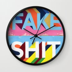 FAKE SHIT Wall Clock