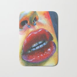 Lips study #4 Bath Mat