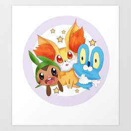 Pocket monster :XY Art Print