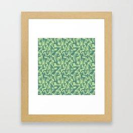 Kip and Flo in Blue on Lime Framed Art Print
