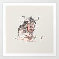 tiki Art Prints featuring TIKI by V & V
