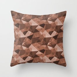 Abstract Polygon Sherwin Williams' Color of the Year for 2019, Cavern Clay SW7701 Cubism Triangle 4 Throw Pillow