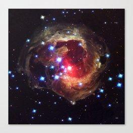 Red Supergiant Star V838 Monocerotis Deep Space Telescopic Photograph Canvas Print