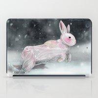 rabbit iPad Cases featuring White Rabbit by Ben Geiger