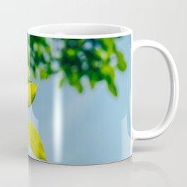Fresh Green Tree Leaves In Summer, Tree Leaf, Intense Vivid Green, Nature In Summer, Ecology Friend Coffee Mug