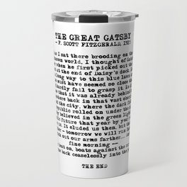 Ending of The Great Gatsby - Fitzgerald quote Travel Mug