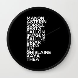 Throne of Glass Blackbeak 13 Wall Clock