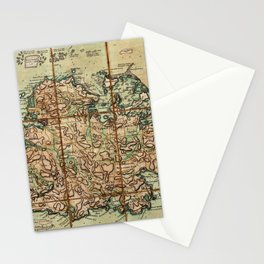 Map Of Antigua 1779 Stationery Cards
