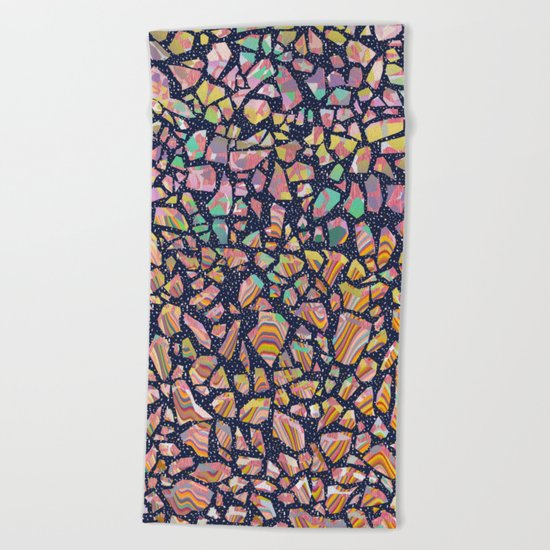 Graphic Terrazzo Beach Towel