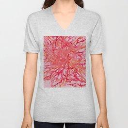 Coral** Unisex V-Neck