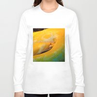 monty python Long Sleeve T-shirts featuring Albino Python by GardenGnomePhotography