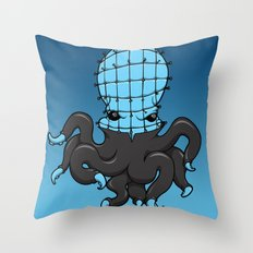 Cenobite octopus Throw Pillow