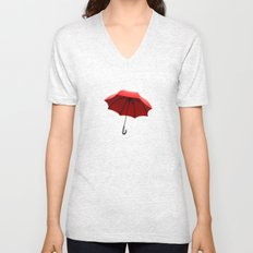 Red Umbrella Unisex V-Neck