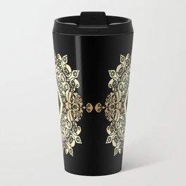 Golden Eastern ornament . Travel Mug