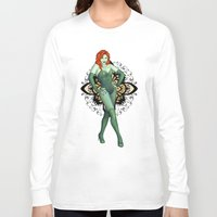 poison ivy Long Sleeve T-shirts featuring Poison Ivy by CatAstrophe