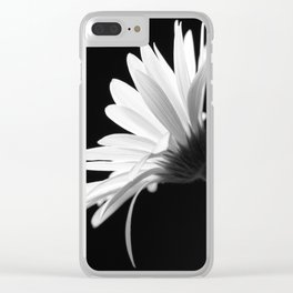 Flower BW Clear iPhone Case