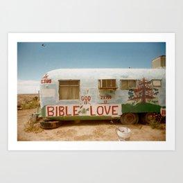 LOVE T R A I L E R Art Print