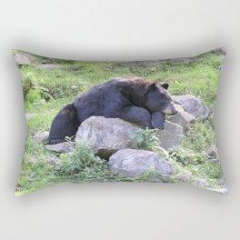 Contemplative Black Bear Rectangular Pillow