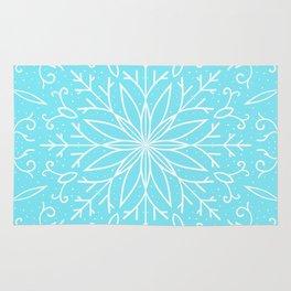 Single Snowflake - Mint Blue Rug