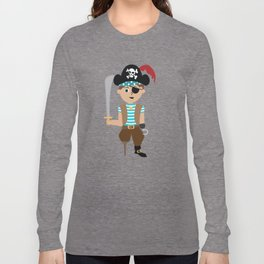 Ahoy Matey! Kids Pirate Treasure Hunt Long Sleeve T-shirt