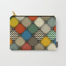 buttoned patches retro Carry-All Pouch