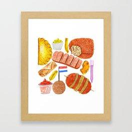 Ode to the Dutch Snacks by Veronique de Jong Framed Art Print