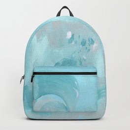 Abstract turquoise carnival Backpack