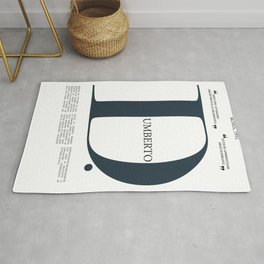 Umberto D, Vittorio De Sica, italian movie poster, neorealist film, neorealismo, cinema italiano Rug