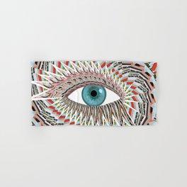 Origami Chakra Eye - Aqua Marine Blue Hand & Bath Towel