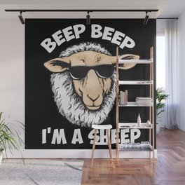 Beep Beep I'm A Sheep Wall Mural