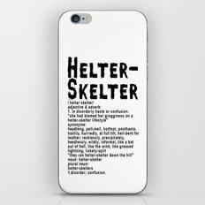 Helter Skelter (black on white) iPhone & iPod Skin