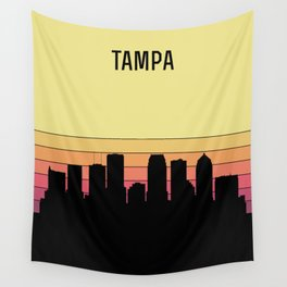 Tampa Skyline Wall Tapestry