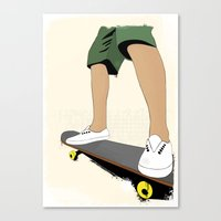 skate Canvas Prints featuring skate by the lazy pigeon