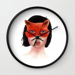 Foxgirl Wall Clock