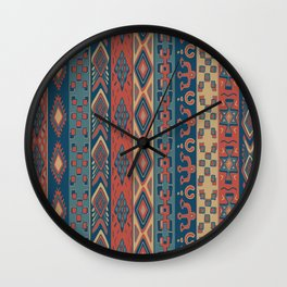 Navajo Geometric Pattern Wall Clock