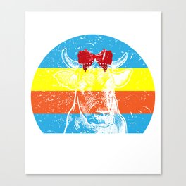 Don't Be A Salty Heifer Shirt Cow Gift Canvas Print