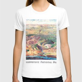 YELLOWSTONE WYOMING IDAHO city old map Father Day art print poster T-shirt
