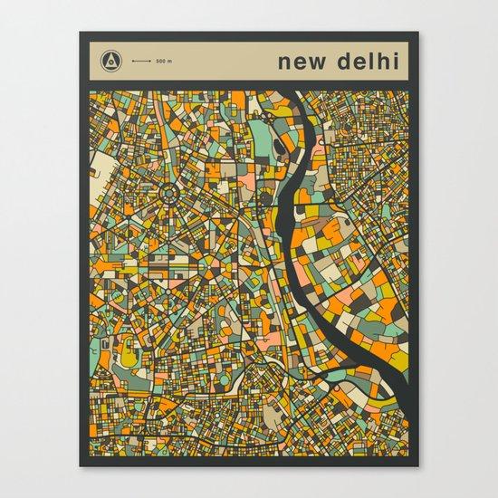 NEW DELHI MAP Canvas Print