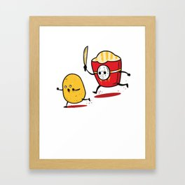 Funny Fries Horror Halloween graphic - perfect gift Framed Art Print
