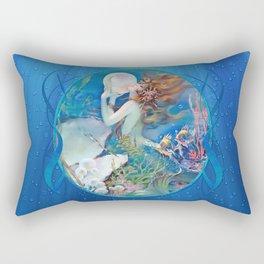 Sensual Art Deco Pearl Mermaid Rectangular Pillow