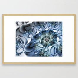 Dynamic Spiral, Abstract Fractal Art Framed Art Print